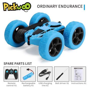Pickwoo C7 RC Car 2.4Ghz 4CH 1:16 Stunt Drift Car Rock Crawler Remote Control Car 360 Degree Flip RC Vehicle Toys with LED Light