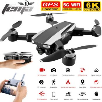 FEMA S105 Drones 6K GPS 1.5Km Professional with camera 4K HD optical flow 5G WiFi FPV Brushless RC quadcopter Dron VS L900 SG907